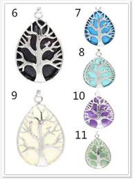 Necklaces Pendants Australia - 2018 New Natural crystalline stone life tree Necklaces water drop Pendants Necklaces Jewelry For Women Men 530