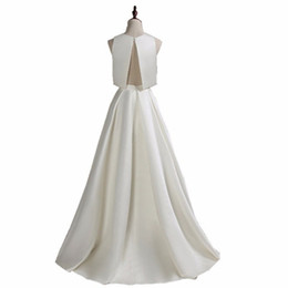$enCountryForm.capitalKeyWord UK - Two Pieces Wedding Dresses 2018 New Simple Cheap Wedding Gowns Real Photo Ruched Satin Bridal Gowns