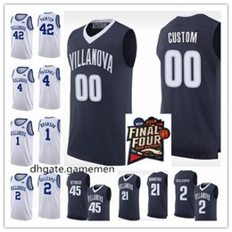 0e297289b86 Villanova Wildcats 5 Phil Booth 25 Mikal Bridges 22 Peyton Heck Any Name  Any Number 2018 Final Four Champions College Basketball Jersey