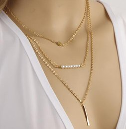 $enCountryForm.capitalKeyWord NZ - free shipping European and American hot style jewelry is beautiful, fashionable, simple, and multi-layer pearl necklace is fashionable, clas