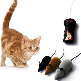 toy rats wholesale 2019 - Two-Way Remote Control Rotating Mouse Emulation Flocking Mouse Toys for Cat Playing Wireless RC Rat Toy Randomly Color c
