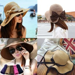 uv sun block Australia - Summer Straw Hat Women Big Wide Brim Beach Sun Hat Foldable Sun Block UV Protection Panama Hat Bone Chapeu Feminino#S