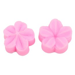 bag cake mold 2020 - 2pcs bag DIY Plum Petal Flower Leaf Silicone Mold Cake Decorating Fondant Flower Sugar Craft Cake Mold Wedding Decoratio