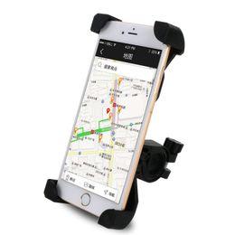 Road Bicycle Clips NZ - Bicycle Handlebar Phone Holder Adjustable MTB Road Bike Cellphone Bracket Square Stability 3.5-6.5 Inch Bike Phone Clip