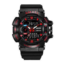 $enCountryForm.capitalKeyWord UK - SMAEL Multi-Function LED Display Sports Watch 30m Waterproof Outdoor PU Band Electronic Watch Digital Luminous Wristwatch