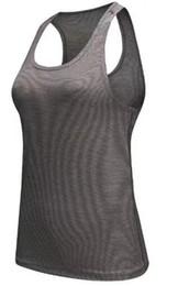 Бесплатная доставка женщин сексуальный фитнес узкие спортивные йога рубашка сухой форме без рукавов спортивной блузки работает жилет тренировки Crop Top женская футболка на Распродаже