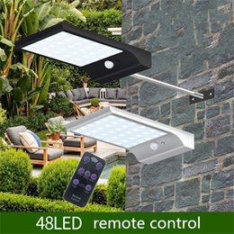 Remote contRolled outdooR lights online shopping - free ship led leds Solar Light With Modes Color Remote Control Waterproof Motion Sensor Lamp Lights Outdoor Garden Street lights