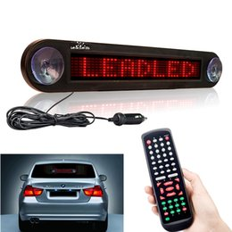 $enCountryForm.capitalKeyWord Australia - 12V 30cm Red Car Led Sign Remote Programmable Scrolling Advertising Message display board Car rear window Moving sign