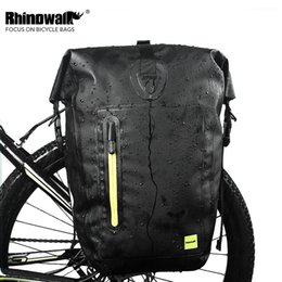 Wholesale 25L Bike Pannier Bag Full Waterproof Big Capacity Thick Reflective bisiklet aksesuar Can Back Carry Hand Outdoor MTB Cycling Bag