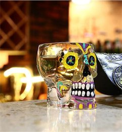 Music skulls online shopping - Personality Wine Glasses Transparent Skull Head Shape Beer Glass Cup Thicken Hand Made Tumbler New Arrival xr XB