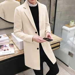 $enCountryForm.capitalKeyWord NZ - Mens Winter Wool Coats And Jackets Long Sport Button Slim Fit Coats Cotton Clearance Mens Parka Big Size 5XL Ten Color