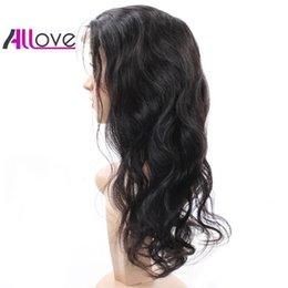 Cheap body wave wigs online shopping - 180 Density Natural Hairline Full Lace Wigs Cheap A Brazilian Hair Peruvian Full Lace Wigs Body Wave Human Hair Good Quality