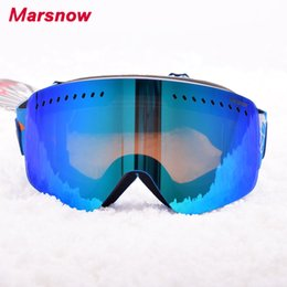 $enCountryForm.capitalKeyWord Canada - 2017 Marsnow Adult Kid Skiing Eyewear Women Goggles UV Protection Breathable Snow Goggles Anti-Fog Big Ski Mask For Man M182