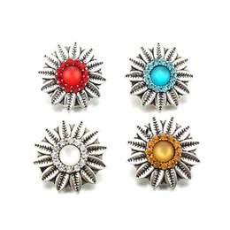 China 2pcs   lot Bohemia bracelet pendant DIY ginger 18 mm snap jewelery charm bracelet button jewelry Wholesale cheap B021 cheap cheap charm bracelet clasp suppliers
