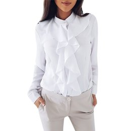 $enCountryForm.capitalKeyWord NZ - OL Style Winter Fashion stand collar long sleeve female shirt office Formal elegant ruffles women's blouse plus size tops #30