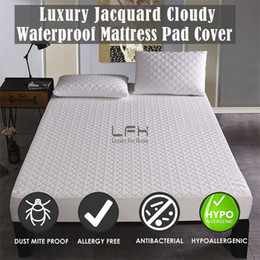 Didihou Solid Color Waterproof Bed Sheet Smooth Mattress Pad Cover For Mattress Protector Anti Mites Bed Cover Mattress Topper Home & Garden Mattress Covers & Grippers