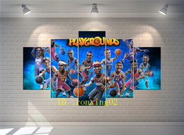 Basketball Player Cartoon NZ - Anime Basketball Player,5 Pieces Home Decor HD Printed Modern Art Painting on Canvas (Unframed Framed)