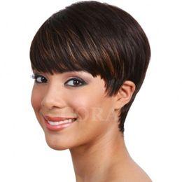 $enCountryForm.capitalKeyWord NZ - 2017 New Pixie Cheap Human Cut Hair Wig Rihanna Black Short Cut Wig African Hair Cut Style None Lace Wig For Black Women