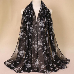 Chinese pashmina sCarves online shopping - Printed Bali yarn thin female scarf Chinese wind floral warm scarf Scarves