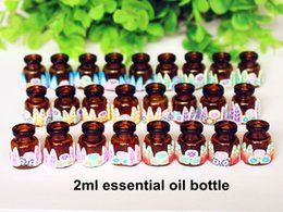 $enCountryForm.capitalKeyWord Australia - 5pcs Pack 2ml Jewelry Polymer Clay Mini Glass Essential Oil Bottle Pendant Wishing Bottles Vials With Natural Wood Cork