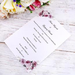 Diseño personalizado Personalice la hoja interior de cualquier estilo para las tarjetas de invitación de boda