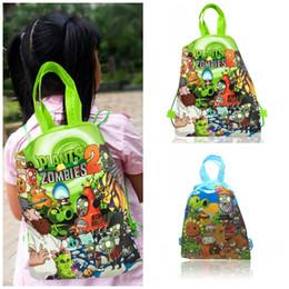$enCountryForm.capitalKeyWord Australia - Free Shipping MOQ=12pcs Plants VS Zombies Cartoon Drawstring Backpacks 34*27CM Non Woven Fabrics Shopping Bags Kids Students Party Gift Bags
