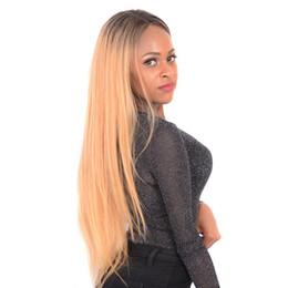 $enCountryForm.capitalKeyWord UK - 100% unprocessed remy virgin human hair silky straight long #1bt18 full lace silk top wig for women