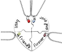 Wholesale 2018 New Hot Selling best friends forever good friend jewelry Love together female clavicle chain pendant EXL436