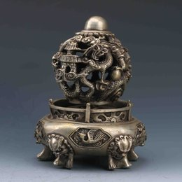 $enCountryForm.capitalKeyWord Australia - CHINESE SILVER COPPER HANDWORK CARVED KOWLOON PLAY BEADS INCENSE BURNER >>>Free shipping