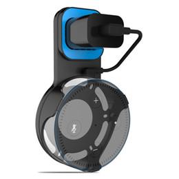 Alexa Echo Dot2 için akıllı ev hoparlör sehpası, duvara montaj aksesuarı, şarj kafası yatay ve dikey ayarlanabilir.