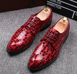 leather lace free shipping Canada - free shipping! Luxury Designer Men's Fashion Genuine Leather Lace-Up Dress Shoes Mens Pattern Casual Oxfords Man Wedding Flats SIZE:38-446