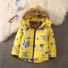 Minions clothing boy online shopping - Despicable Me Jacket Kids Jacket For Boy Baby Minion Clothes Winter Down Coat Warm Baby Snowsuit Children Boy s Hooded Coat