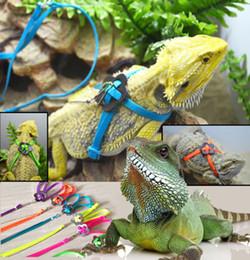 Регулируемая рептилия ящерица жгут поводок регулируемый многоцветный свет мягкий канат для рептилий или мелких домашних животных в наличии