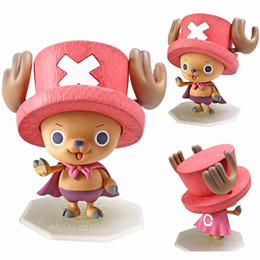 Toy Hats NZ - One Piece Superman Tony Chopper Plating Cherry Pink Hat Great Action Figure Japan Anime Kids Gifts Toy 10cm For Kid Gift