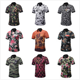 c39bb09ba60 2018 New Summer Short Mens Shirt Designer 3D Printing Mens Polo Shirts Male  Funny Beach Style Camouflage Skull Top Tee Stylish T-shirt