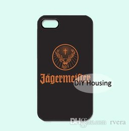 Wholesale mobile Phone Jagermeister Logo Beer plastic hard cover case for iPhone s SE c s Plus X samsung note s9 plus cover