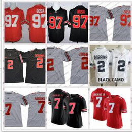 NCAA Ohio State Buckeyes  2 JK Dobbins  7 Dwayne Haskins Jr.  97 Nick Bosa   15 Elliott White Red Black Camo College Football Jerseys 82e60dc31