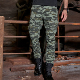 b0f3a33075b78 Cargo Camo Pants Men Military Style Tactical Combat Pants Men Casual Cotton Multi  Pocket Loose Camouflage Work Long Trousers