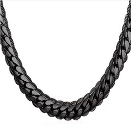 Wholesale Necklace Choker Long 9MM 6MM Vintage Punk Black Silver Gold Color Miami Chain Hip Hop Chain Gift For Women Men Jewelry N08