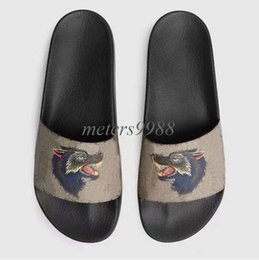b98a4548d3aca fashion animal print leather Slide sandals 10 styles mens womens causal  beach rubber flats slippers flip flops