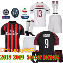 292824797 HIGUAIN Men kit 18 19 home Soccer Jersey 2018 2019 new BONUCCI CALHANOGLU  ANDRE SILVA GOMEZ suso Away 3rd football Shirt