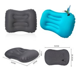Travel Pillow For Office Australia - Ultralight Portable TPU Outdoor Inflatable cushion Soft Compressible Travel Air Pillow Body Back for Camping Hiking Office Sleep