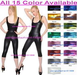 $enCountryForm.capitalKeyWord NZ - Unisex Short Bodysuit Costumes Outfit 15 Color Shiny Lycra Metallic Suit Catsuit Costumes Sexy Body Suit Unisex Halloween Cosplay Suit P235