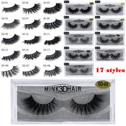 Cils 3D en vison maquillage pour les yeux Mink faux cils doux naturels épais faux cils Cils en 3D extension des cils beauté outils 17 styles DHL gratuit