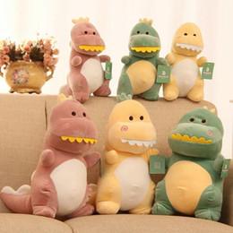 12 Inch Stuffed Animals Canada - 12 Inch Dinosaur Plush Toys Soft Stuffed Animal Gerbil Plush Dinosaur Children Birthday Gift Three Colors