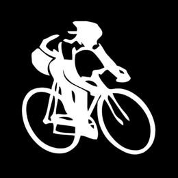 $enCountryForm.capitalKeyWord Australia - HotMeiNi Wholesale 20pcs lot Cycling Sticker Road Bike Swim Run ironman triathlon Sports Vinyl Decal SUV Truck Car window or Bumper