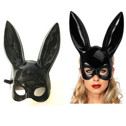 bunny costumes women UK - White And Black Rabbit Women Mask Masquerade Bunny Rabbit Mask Easter Party Decoration Costume Cosplay Accessory Children Gift