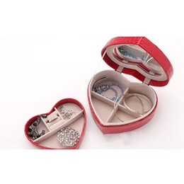 $enCountryForm.capitalKeyWord Australia - Hoomall Love Heart Leather Casket for Decoration Large Capacity Wedding Jewelry Box Jewelry Storage Organizer Holders