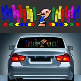 Chinese  hina neon light lamp Suppliers 90*25CM Car Music Rhythm Sticker Equalizer LED Neon Flash Light Decal Cars Automobile Styling Decoration A... manufacturers