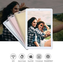 Discount 4g calling octa core tablets - Fingerprint Recognition 10.2 inch 4G LTE Phone call Octa Core 4GB+64GB android 7.0 10.1 tablet PC 1920*1280 IPS Wifi GPS
